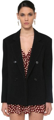Saint Laurent Pinstripe Wool Blend Jacket