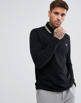 Fred Perry REISSUES Twin Tipped Long Sleeve Polo Shirt in Black