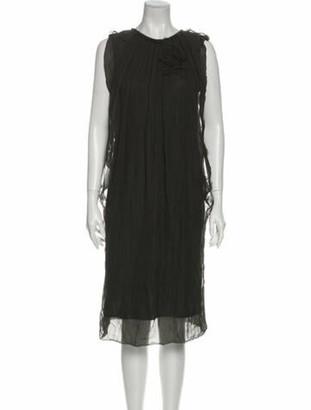 Lanvin 2008 Midi Length Dress Grey