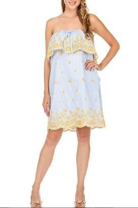 Jade Ruffled Tube Dress