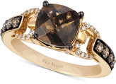 LeVian Le Vian® Chocolatier Chocolate Quartz® (1-3/4 ct. t.w.) and Diamond (1/3 ct. t.w.) Ring in 14k Gold