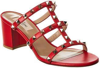 Valentino Rockstud 60 Leather Sandal