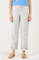 J. Jill Striped Linen Drawstring-Waist Pants