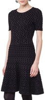 Akris Punto Women's Velvet Dot Fit & Flare Dress