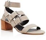 Rebecca Minkoff Ilana Buckle Mid Heel Sandals