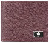 Dolce & Gabbana crown logo plaque billfold wallet - men - Calf Leather - One Size