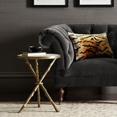 Williams-Sonoma Faux Bois Accent Table with Marble Top