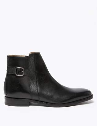 Marks and Spencer Saffiano Leather Jodhpur Boots
