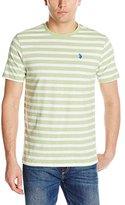 U.S. Polo Assn. Men's Short-Sleeve Melange Stripe Crew-Neck T-Shirt