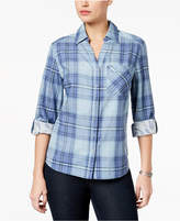 Style&Co. Style & Co Style & Co Petite Cotton Plaid Utility Shirt, Created for Macy's