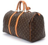 Louis Vuitton Pre-Owned: brown monogram canvas 'Keepall 50' bag