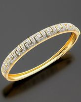 18k Gold over Sterling Bracelet, Diamond Accent Key Bangle