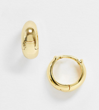 Shashi petite lady huggie earrings in sterling silver gold plate