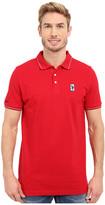 U.S. Polo Assn. Solid Pique Polo Shirt w/ Color Tipped Collar & Cuffs