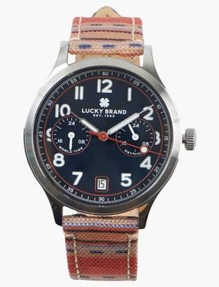 Lucky Brand Jefferson Multi Navy Dial Watch