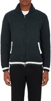 Herman HERMAN MEN'S CHUNKY STOCKINETTE-STITCHED ZIP-FRONT CARDIGAN