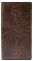 Fossil Men's 'Derrick' Leather Executive Checkbook Wallet - Brown