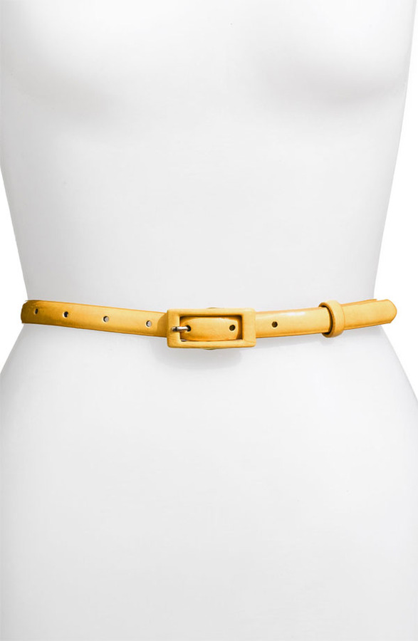 Another Line 'Updated' Skinny Patent Belt