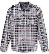 Buffalo David Bitton Plaid Woven Elbow Patch Shirt