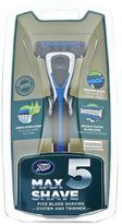 Boots Max Shave 5 Five Blade Shaving System and Trimmer