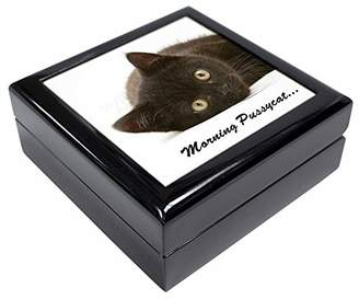 Black Cat 'Morning Pussycat' Keepsake/Jewellery Box Christmas Gift