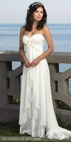 Mon Cheri Enchanting Embroidered Chiffon Tiered Wedding Gown
