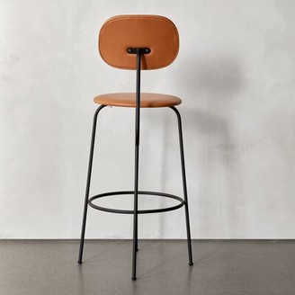 "Menu Afteroom Bar & Counter Stool Seat Height: Bar Stool (28.7"" Seat Height), Upholstery: Orange"