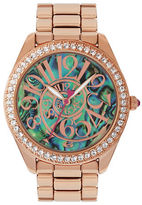 Betsey Johnson Abalone Optical Dial Rose Gold Watch, BJ00048147