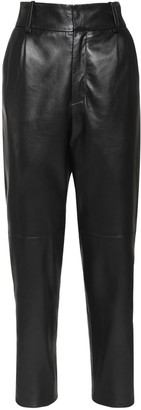 Simonetta Ravizza Leather Straight Leg Pants