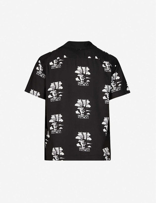 Obey Peace graphic-print woven shirt