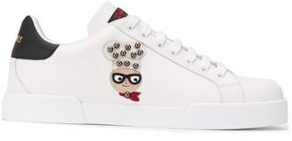 Dolce & Gabbana Portofino designer-patch sneakers