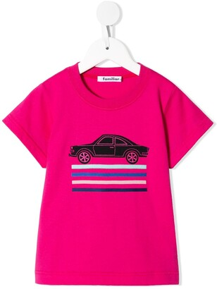 Familiar embroidered car T-shirt