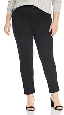 Seven7 Lia Tummyless Slim-Straight Jeans in Black Rinse