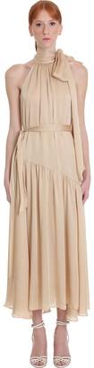 Zimmermann Dress In Beige Silk