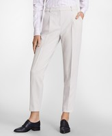 Brooks Brothers Petite Double-Weave Pleated Ankle Pants