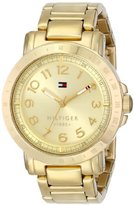 Tommy Hilfiger Women's Analogue Watch with Gold Dial Analogue Display and Stainless steel plated gold-coloured
