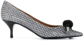 Emporio Armani Cord-Detail Pointed Pumps