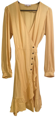 Maje Spring Summer 2020 Yellow Viscose Dresses