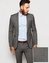 Asos Super Skinny Suit Jacket In Salt and Pepper