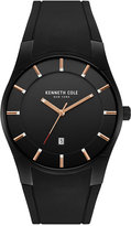 Kenneth Cole New York Men's Black Silicone Strap Watch 42x49mm 10031267