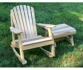 Adirondack Marquez Rocking Chair with Table Rosecliff Heights