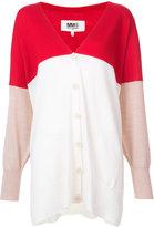 MM6 MAISON MARGIELA long colour-block cardigan