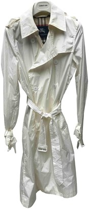 Burberry White Trench Coat for Women