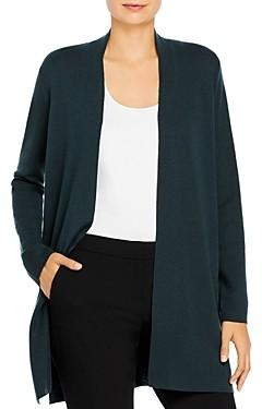 Eileen Fisher Long Open Front Wool Cardigan