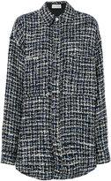 Faith Connexion tweed oversize shirt - women - Cotton/Acrylic/Polyamide/Wool - XS