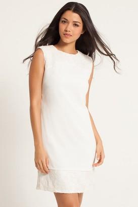 Little Mistress White Embellished Shift Dress