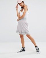 Boohoo High Waist Lace Hem Shorts
