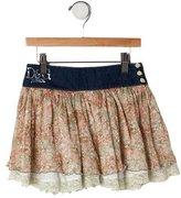 Dolce & Gabbana Girls' Floral Print Skirt