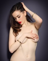 Agent Provocateur Crystal Cuffs Gold