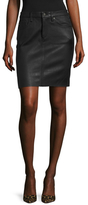 AG Adriano Goldschmied Erin Leather Skirt